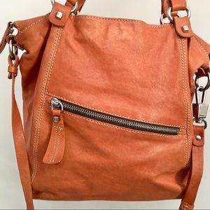 Luana leather handbag large brown